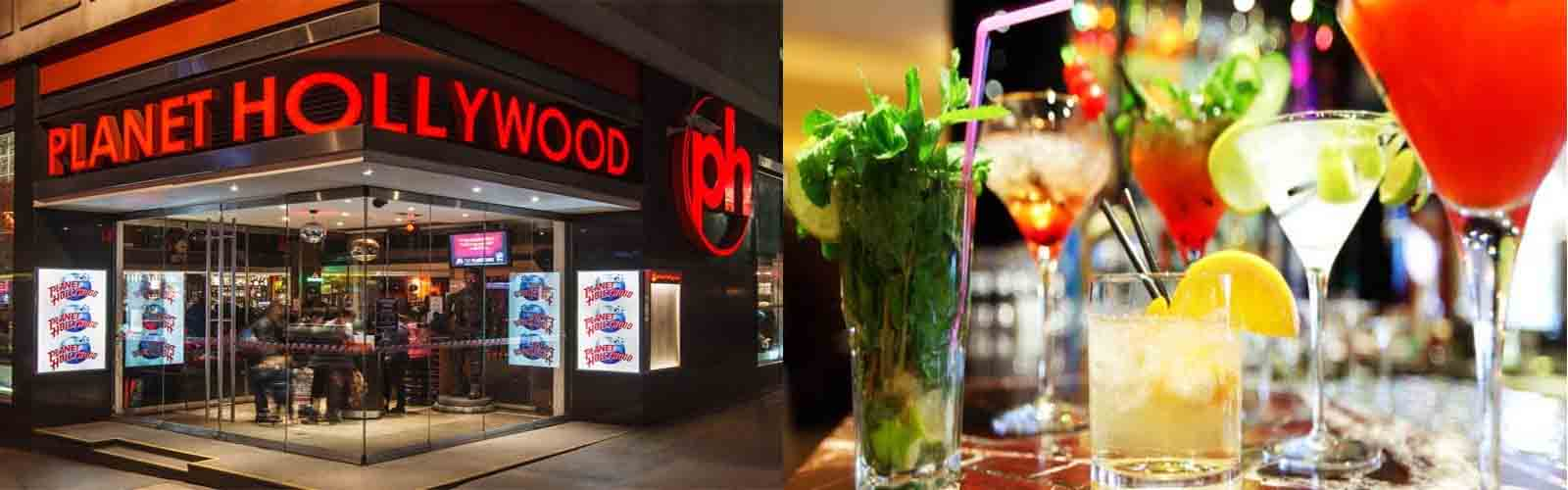 Get 2 for 1 drinks at Planet Hollywood bar with the London Nightlife Ticket