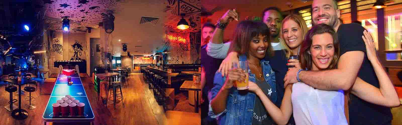 Grab your best friends and enjoy some dancing and drinks at Gem Bar.