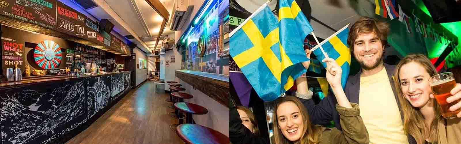Enjoy wild decor at the Nordic Bar.