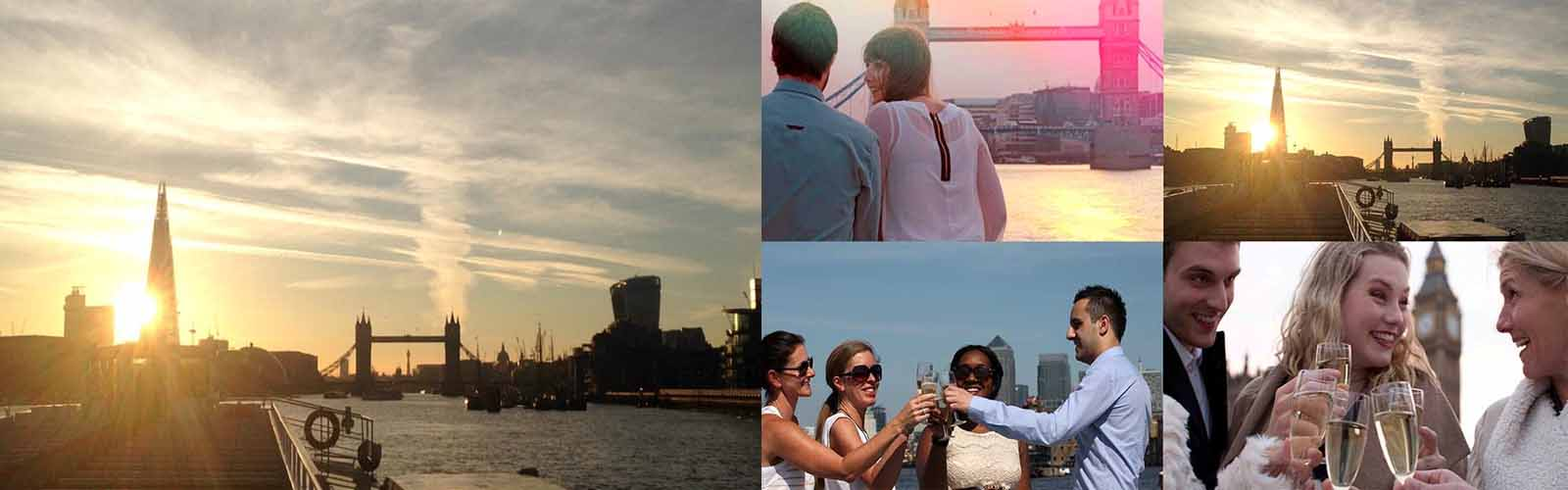 Explore London with the Sundowner Boat Cruise and receive free bottle of champaign and free snacks
